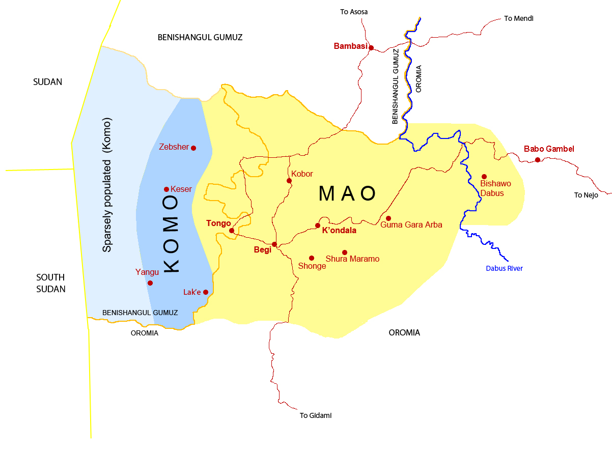 The Mao and Komo Languages in the Begi – Tongo area in